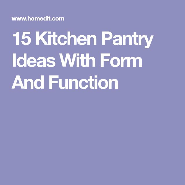 15 Kitchen Pantry Ideas With Form And Function: 14 Best Kitchen With Freestanding Pantry Images On