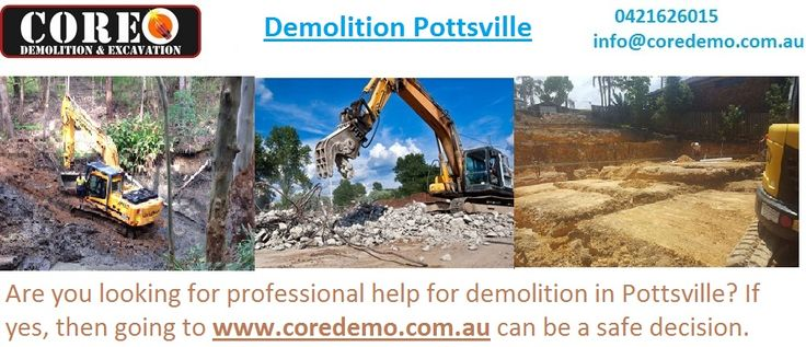Are you looking for professional help for demolition in Pottsville? If yes, then going to http://www.coredemo.com.au/ can be a safe decision.