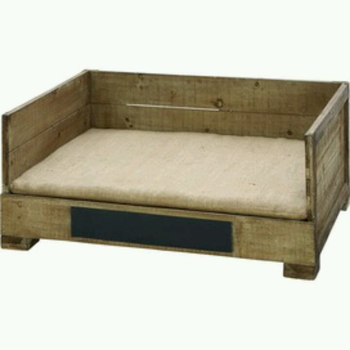 Dog bed made out of recycled pallets just make a pad or for Beds made out of pallets