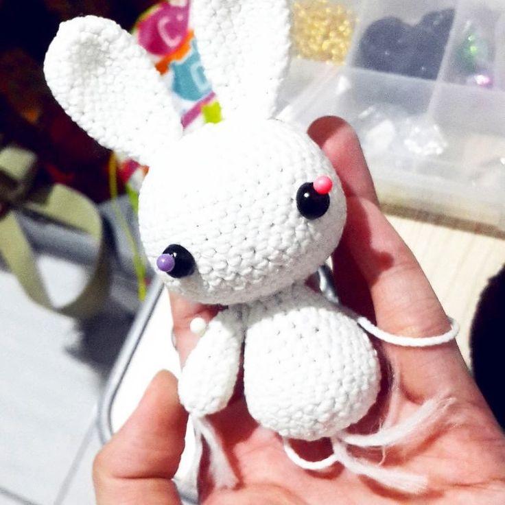 crochethobby:: Buni  #crochet #amigurumi #rabbit #banana #whiterabbit #crochetrabbit #bunny #kelinci #whiterabbit #boneka #rajutan #bonekarajut #rajut #bagcharm #keychain #souvenir #project #openorder #custom #cuterabbit #doll #amigurumiartist #followme #crochetaddict #online #onlineshop #bonekarajutsurabaya #cutebunny