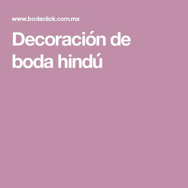 Decoración de boda hindú