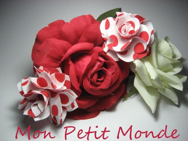 Flor para traje flamenco en Rojo