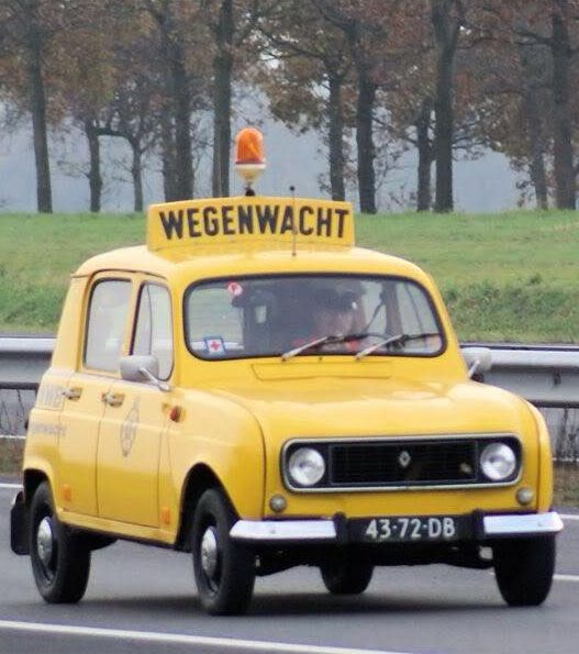 Renault 4 Dutch Traffic Aid in the late 1960 's