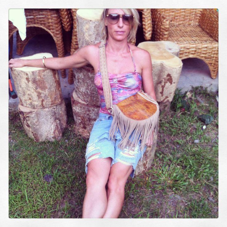 Chilling in the garden wearing Honour Rose Bag by JodiLee..... www.jodilee.com.au Facebook JodiLee