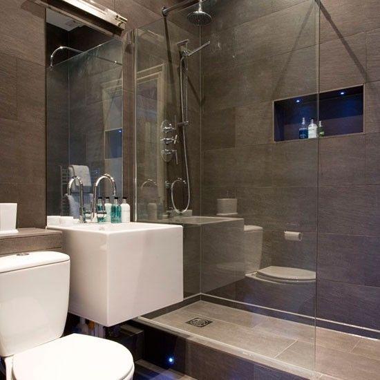 Modern grey bathroom | Hotel-style bathroom ideas | Bathroom | PHOTO GALLERY | 25 Beautiful Homes | Housetohome.co.uk