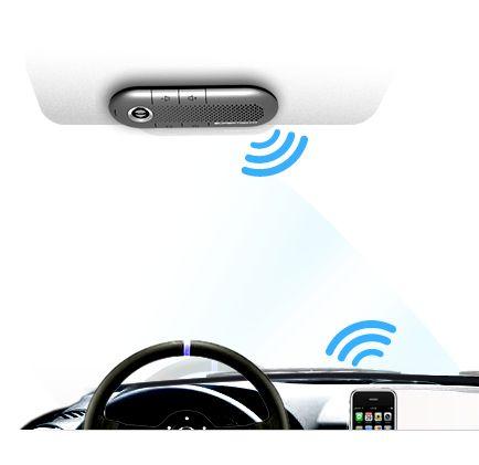 Crystal: fale no celular enquanto dirige com este viva-voz veicular Bluetooth