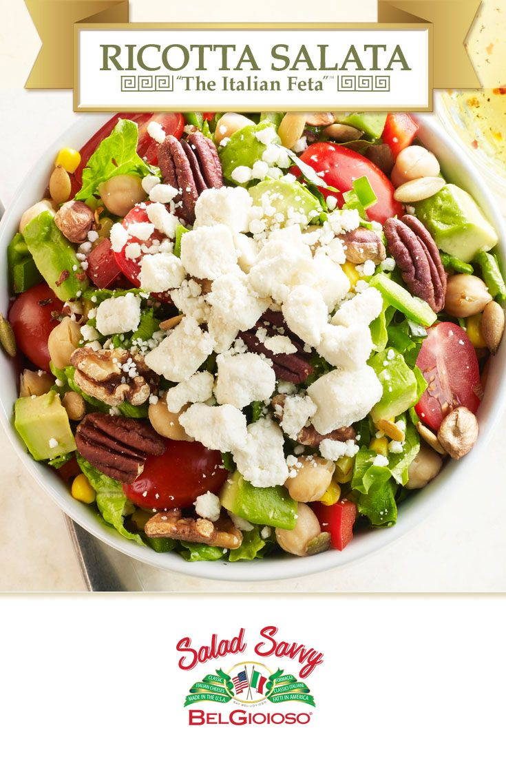 MED SALAD'S NEW BEST FRIEND. Love feta? BelGioioso® Ricotta Salata ...