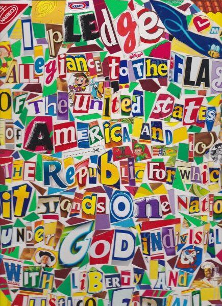 Pledge of Allegiance, 2004 Collage by Michael Albert