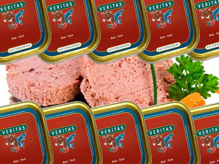 Katzenfutter Katzennahrung 60x 400gr Nassfutter Rind Fisch VERITAS | B-Waresparen25.com , sparen25.de , sparen25.info
