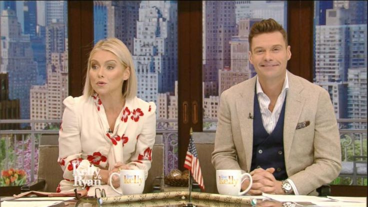 "A full year after Michael Strahan left ""Live"" for a full-time gig on ""Good Morning America,"" Kelly Ripa introduced her new co-host Monday morning on the show"