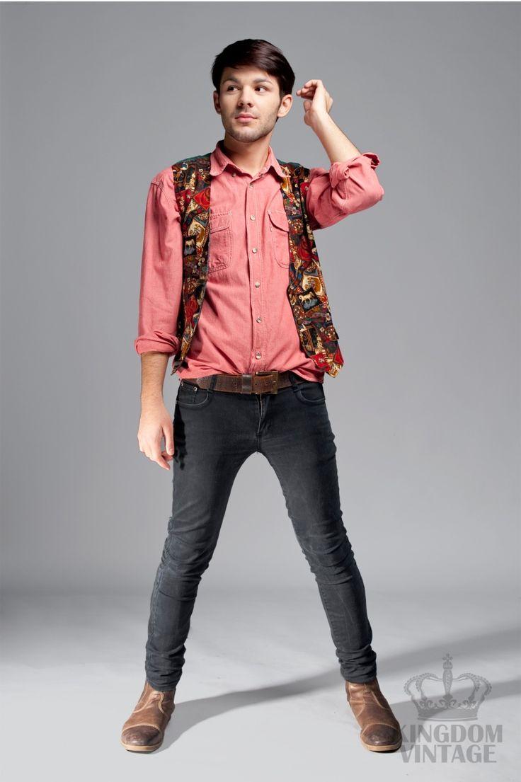 ceglasta koszula Levi's od Kingdom of Vintage