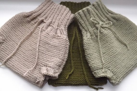Eco Wool Hand Knitted Baby Cloth Diaper Cover,  Organic Wool Baby Diaper Soaker, Wool Diaper Cover, Wool Diaper Soaker, Natural Diaper Cover
