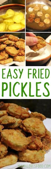 OMG I love fried pickles!   Easy Fried Pickles Recipe
