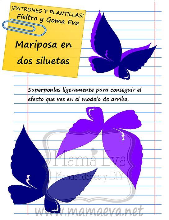 Plantillas de mariposas y bichejos moldes pinterest - Plantillas de mariposas ...