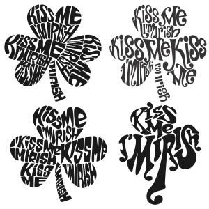 Kiss me Shamrock I'm Irish Cuttable Design Cut File. Vector, Clipart, Digital Scrapbooking Download, Available in JPEG, PDF, EPS, DXF and SVG. Works with Cricut, Design Space, Sure Cuts A Lot, Make the Cut!, Inkscape, CorelDraw, Adobe Illustrator, Silhouette Cameo, Brother ScanNCut and other compatible software.