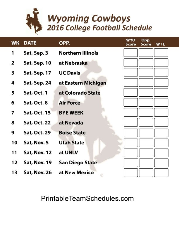 Best  Wyoming Cowboys Football Schedule Ideas On