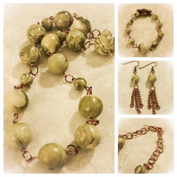 CLAY BEADED JEWELRY SET - Jewelry creation by Felecia Cornelius