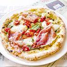 Een heerlijk recept: Pizza al pesto met ham