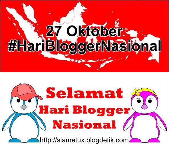 Hari Blogger Nasional, dalam pandangan awam saya, setidaknya memunculkan dua pesan kuat. Pertama, peran blogger dalam dinamika kehidupan ber...
