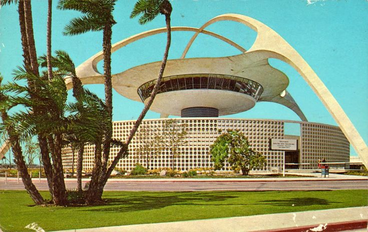 The theme building is an iconic mid century modern googie for Southern california architecture firms