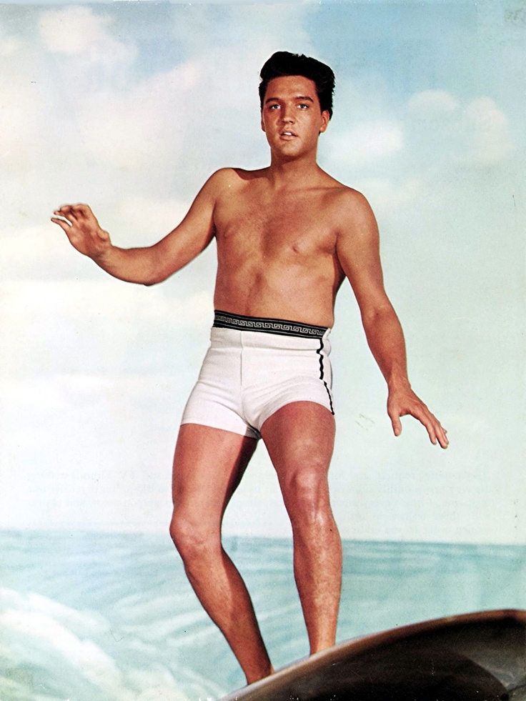 Elvis in his underwear. surfing. no biggie. @Randi Lea: Elvis Memories,  Bath Trunks, Forever Elvis, Blue Hawaii, Priscilla Presley, Elvis Presley, Hot Singer, Serious Elvis, Hot Songs