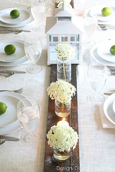 Rustic Summer Tablescape via @Taryn {Design, Dining + Diapers}