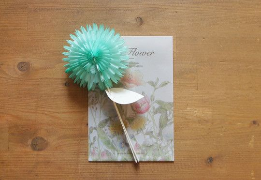 Large 3D Flower Card in Mint, from Camélia.
