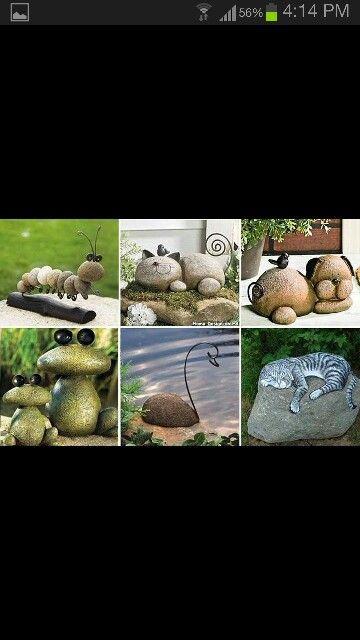Utiliza piedras e imaginación