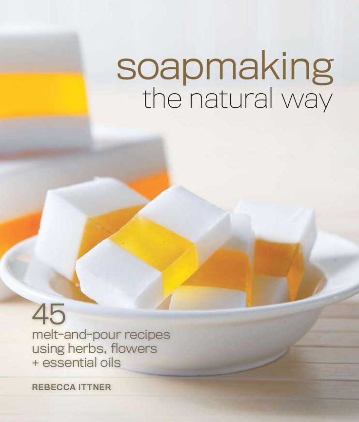 """Soapmaking the Natural Way"" offers the fundamental techniques of soap making as well as more than 45 melt-and-pour recipes using herbs, flowers and essential oils. Discover two recipes from this book: Milk and Honey soap (soc.li/2jSOWyG) and Simply Lavender soap (soc.li/SRqkdfe)."
