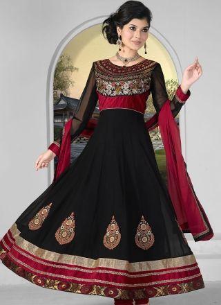 Amazing Black and Maroon Dress 1001 http://www.angelnx.com/Salwar-Kameez/