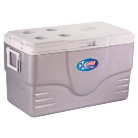 Silver 70Quart Extreme Cooler With Insulated Lid And Extra Insulation Keeps Ice Up To 5 Days At Up To 90 Degrees F Low CO2 Insulation Holds 98 Cans *** Learn more by visiting the image link.