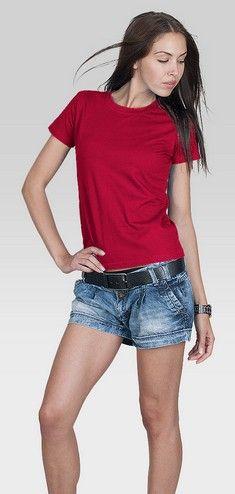 T-shirt damski PromoStars LADIES HEAVY czerwony rM