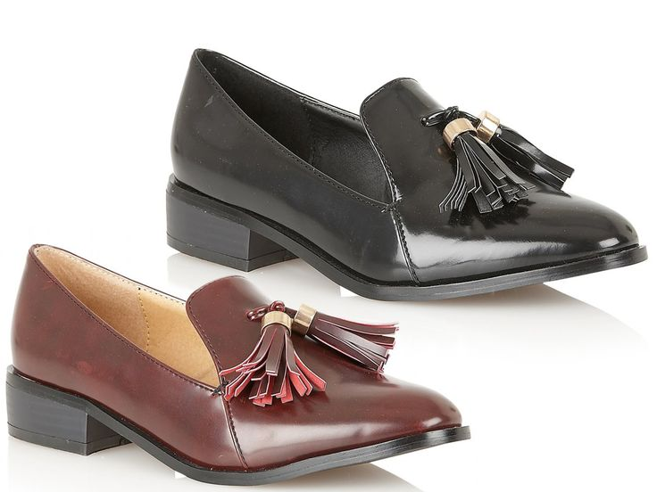Stay smart, stay cool with these Dolcis low heel loafers with a front tassle & shiny finish. Great for office & work wear. Only £19.99 at www.shoesdays.co.uk