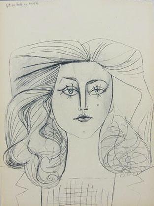 Title: Portrait of Francoise Gilot Medium: Lithograph