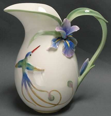 Franz Collection Long Tail Hummingbird - Pitcher Vase