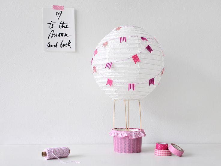 Cool DIY Heissluftballon f r das Kinderzimmer Gastbeitrag