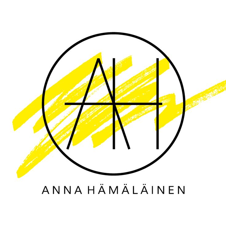 Logo design by Annika Välimäki Creative. Minimalistic graphic logo design with black and yellow.