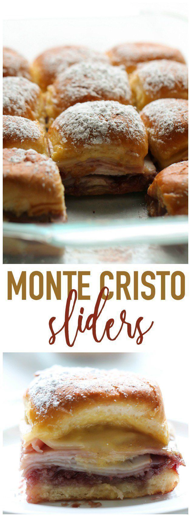 Monte Cristo Sliders from SixSistersStuff.com | This is one of the BEST sandwich recipes and so easy to make for lunch or game day snack!