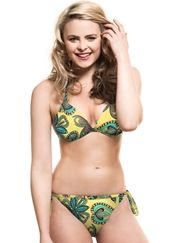 Amazon Tie-Side Gel Bikini Set - Yellow