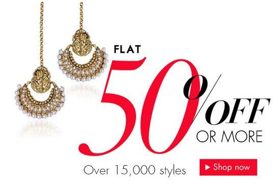 Get Flat 50% OFF On Latest Designer Fashion Jewellery Online