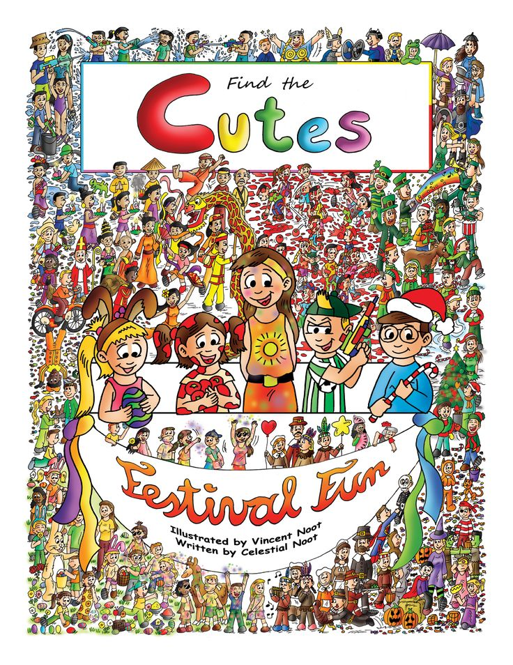 """The 2nd book in the series, Find the Cutes, is called """"Festival Fun."""" It's available for only $14.99, softcover, 36 pages and 12 double pages of look and find fun. Order on Amazon or on our website:   http://www.amazon.com/Find-Cutes-book-Festival-books-ebook/dp/B00TFNRWK4  http://findthecutes.com/?product=softcover-find-the-cutes-festival-fun"""