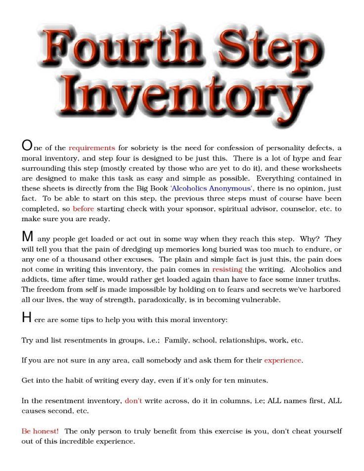 Worksheet Moral Inventory Worksheet 1000 images about recovery step work on pinterest english aa 4th workshop