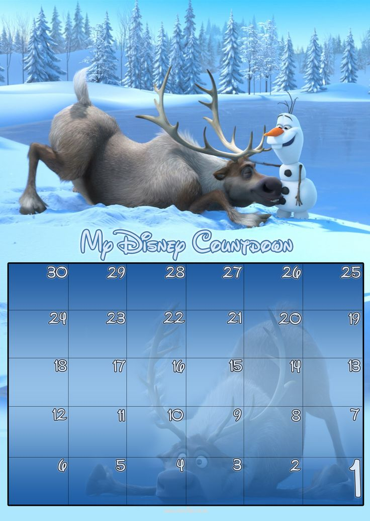 Free 30 Day Disney Countdown Calendar Downloads ~~ from the Dibb ~ Disney with a British Accent