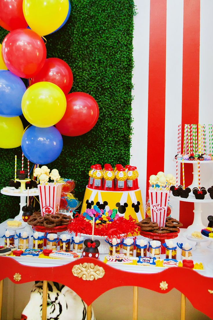 Dazzling Mickey & Minnie Circus Birthday Party