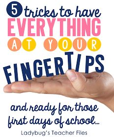 Getting ready for the beginning of school .  Great ideas to get the year off to s great start.