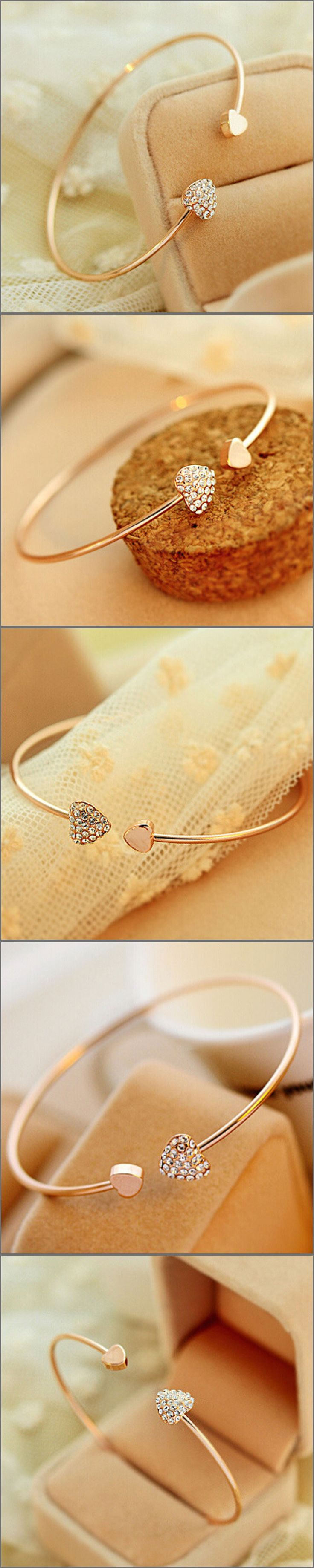 Gorgeous Gold Plated Heart Bangle