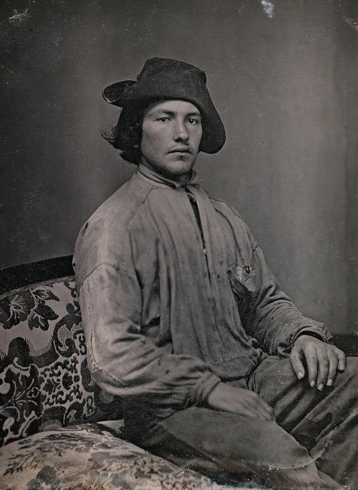 C. 1850 portrait of an unidentified man dressed in work clothes by an unknown photographer (collection of the Canadian Photography Institute. NGC, Ottawa)