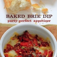 Baked Brie Dip Recipe: Brie Dips, Dips Recipe, Sun Dry Tomatoes, Sundried Tomatoes, Baking Brie, Brie Recipe, Tomatoes Dips, W Sun Dry, Dips W Sun