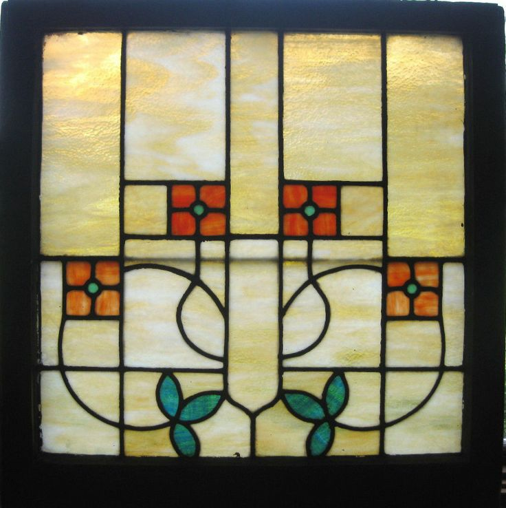 1910 Bungalow stained glass window