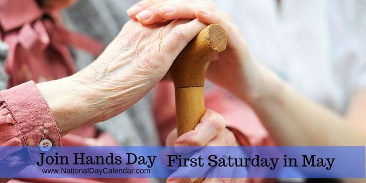 May 5th is Join Hands Day...volunteers of all ages working together. <3